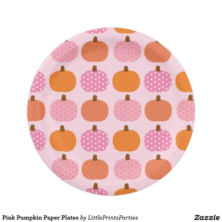 Pink Pumpkin Paper Plates                                                                                                                                                     More