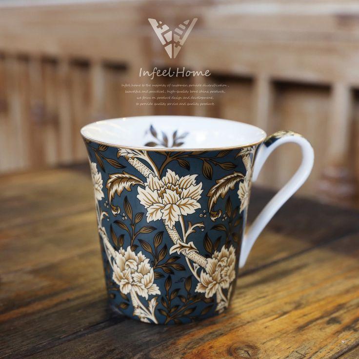 Britânico William Morris Osso China Caneca de Café Do Norte Da Europa Pintura Copo Caneca de Chá De Porcelana Retro Café Hora Do Chá em Canecas de Home & Garden no AliExpress.com   Alibaba Group
