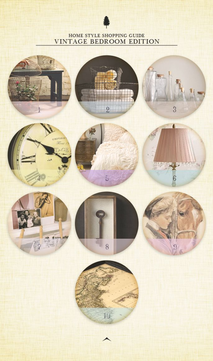 Home Style Shopping Guide Vintage Bedroom Edition
