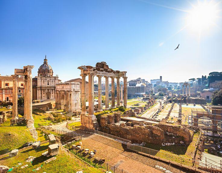 Italy, Rome, Roman Ruins.