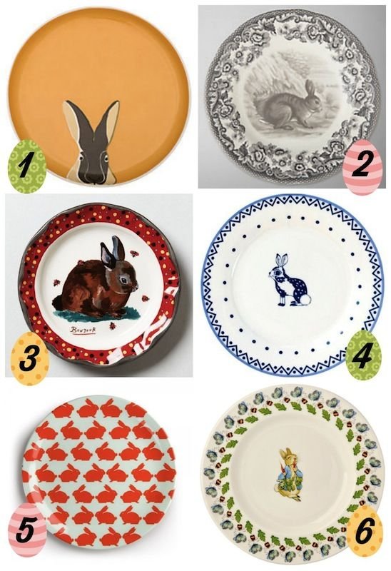 easter plates from Molly and the Princess #LoveYourHome