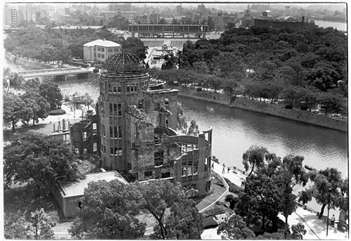 The sole surviving building of the Nagasaki Hiroshima bombing which today stands as a monument of peace and a museum.