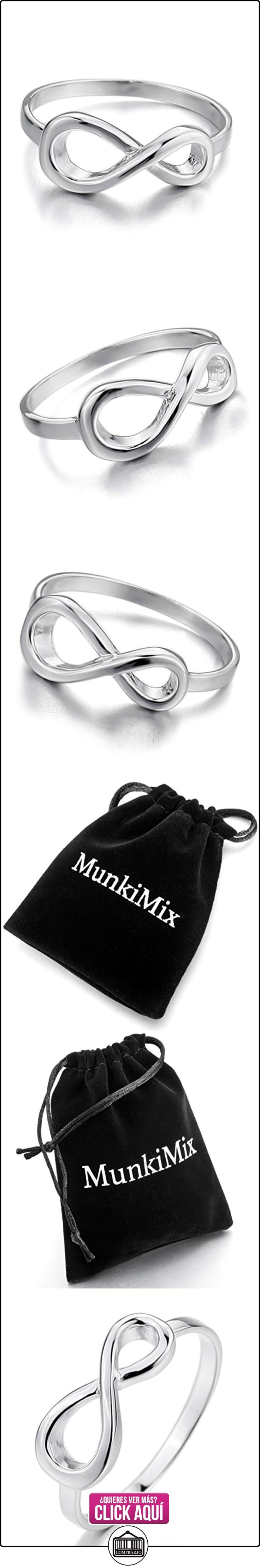 MunkiMix 925 Plata Anillo Ring Plata Infinito Infinity Amor Love Símbolo 8 Para Siempre Forever Alianzas Boda Talla Tamaño 20 Mujer  ✿ Joyas para mujer - Las mejores ofertas ✿ ▬► Ver oferta: https://comprar.io/goto/B00D6DU648