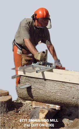 Granberg Chainsaw Mill - bolts onto chainsaw bar to mill your own wood