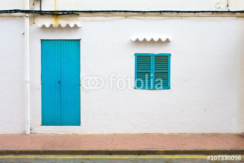Facade of a classic Spanish, latino building