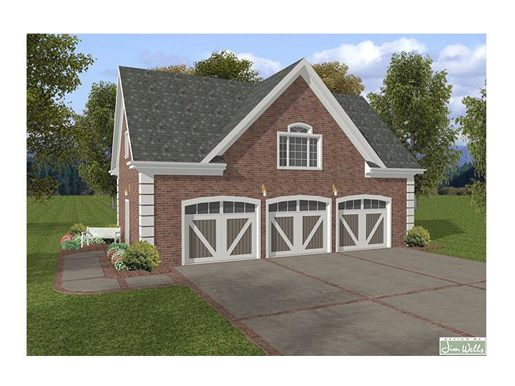 3 Car Garage With Loft Click Image Above To View Larger