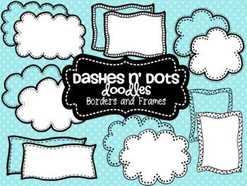Dash N' Dots Doodles {Borders & Frames}