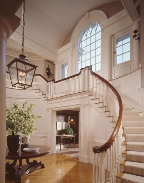 This stairway and the window at the top is absolutely stunning: Big Window, Spirals Stairca, Dreams, Staircases, Grand Entrance, Interiors Design, House, Homes, Stairways