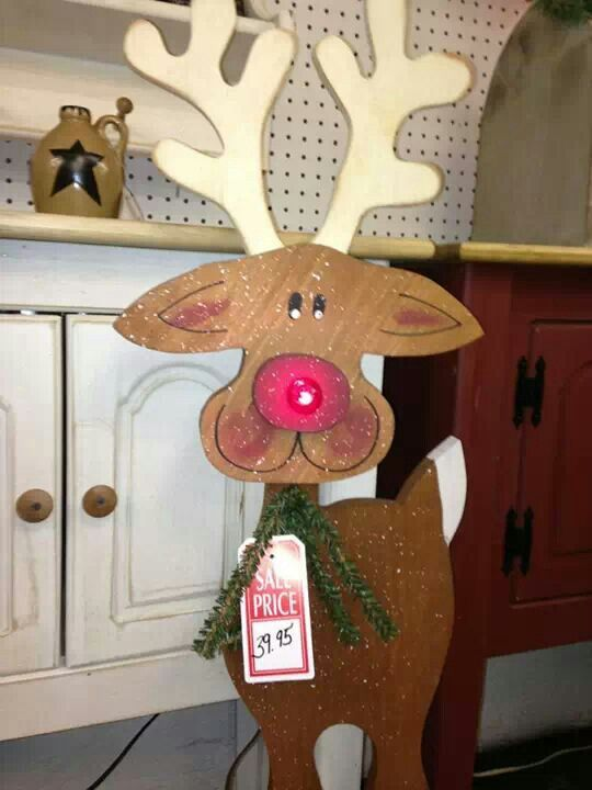 Cute tall wood craft reindeer crafts christmas for Reindeer project