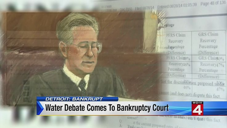 detroit bankruptcy courtroom sketch | Detroit water debate enters bankruptcy court | Business - Home