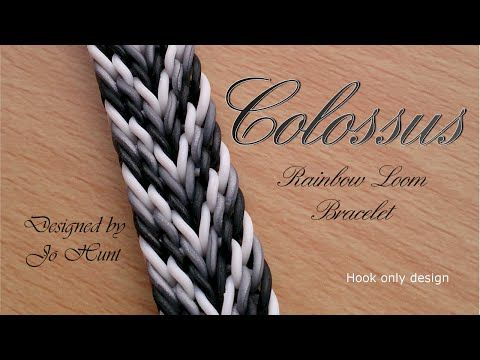 Colossus Rainbow Loom Bracelet - Hook Only - YouTube