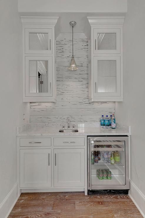 white cottage butler 39 s pantry features mirrored upper cabinets and white lower cabinets fitted. Black Bedroom Furniture Sets. Home Design Ideas