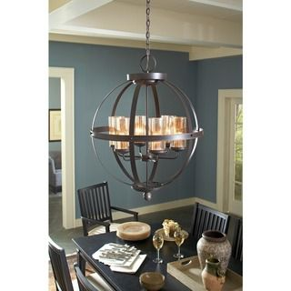 Sfera 6-light Autumn Bronze Chandelier | Overstock.com Shopping - Great Deals on Seagull Lighting Chandeliers & Pendants... OMG this is the perfect chandelier. Exactly what I've been looking for!!
