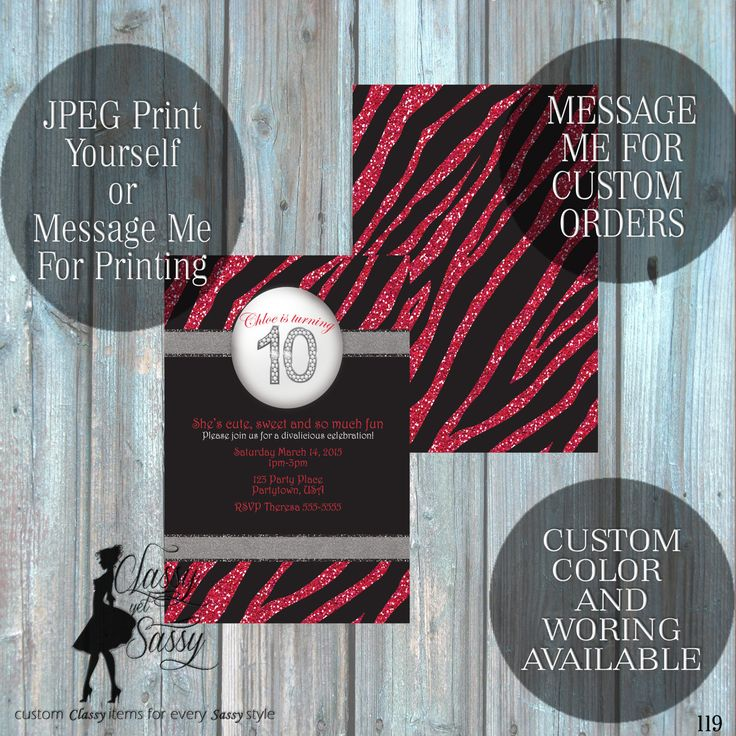 258 best Classy Yet Sassy Invites and Printables images on Pinterest ...