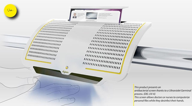 Future technology concept of 'HH' (hand sanitizers)
