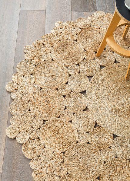 Natural Geranium Flower - Armadillo Floor Rug - Curious Grace