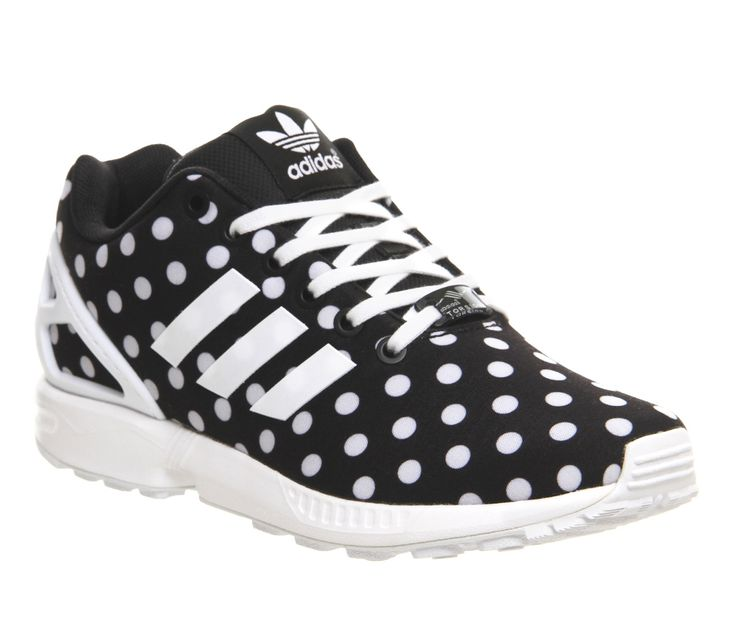 Adidas Zx Flux Core Black White Polka Dot - Unisex Sports
