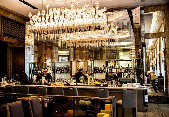 Pierre yves rochon transforms paris s prince de galles hotel bar search an - Hotel art deco paris ...