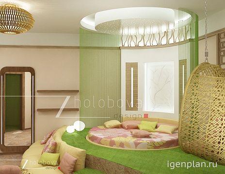 Создание комнаты для девушки в салатовым цвете. Автор работы: Ирина Жолобова. Новая работа на сайте. #дизайнинтерьера #igenplan #интерьеркомнаты #дизайнкомнаты