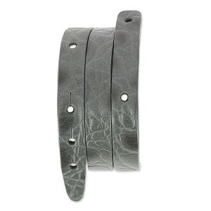 Base bracelet en cuir 2 tours 10 mm Imitation Crocodile Gris x 40 cm