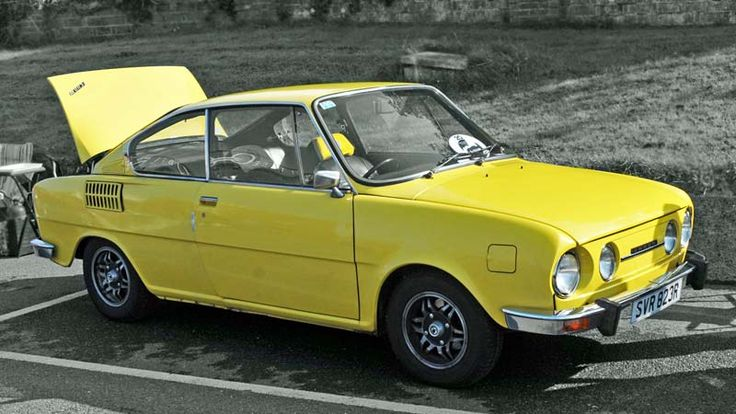 Skoda 1000 MB coupe - yellow car