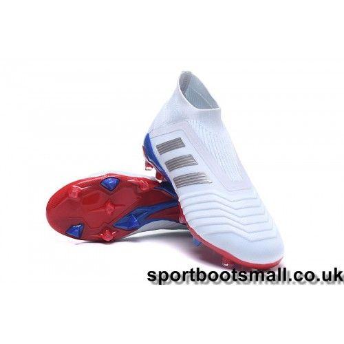 Upcoming Adidas Kids Predator Telstar 18+ FG Football Boots -  White Silver Red 823b8821a43