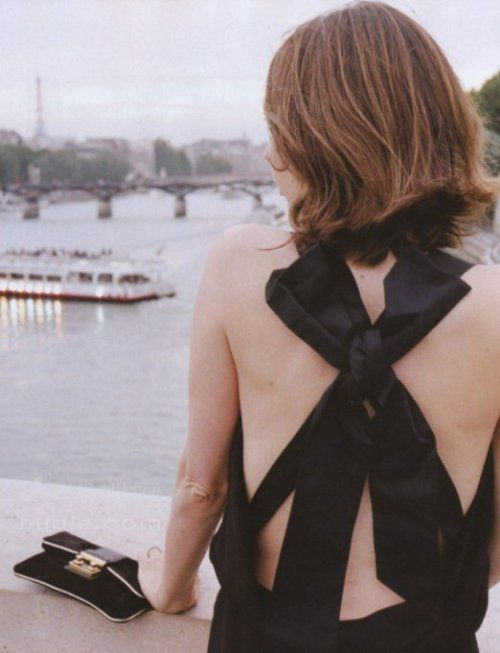 Sofia Coppola And The Little BlackDress - Journal - I Want To Be A CoppolaFashion, Summer Outfit, Vogue Paris, Parisians Style, Sofia Coppola, Little Black Dresses, Big Bows, Summer Clothing, Back Details