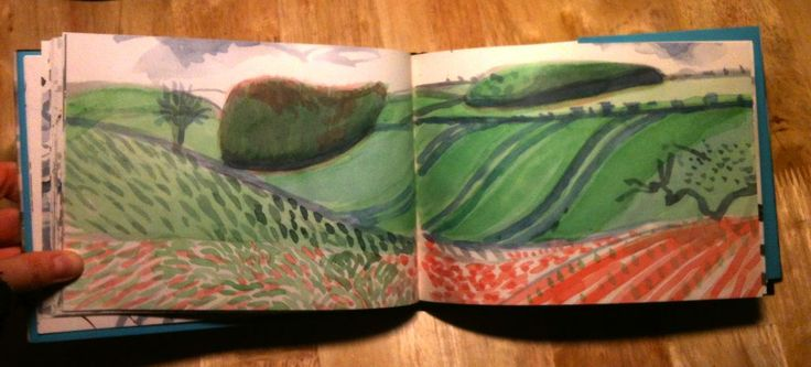 Spread from A Yorkshire Sketchbook, David Hockney