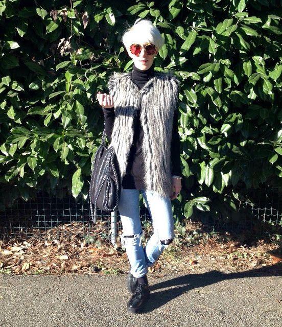 Fashion on Stage: gilet di pelliccia e un clima mite