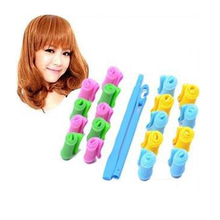 18Pcs/lot New magic hairdressing tools diy manual curlers thread form big waves snail curls curly hair artifact