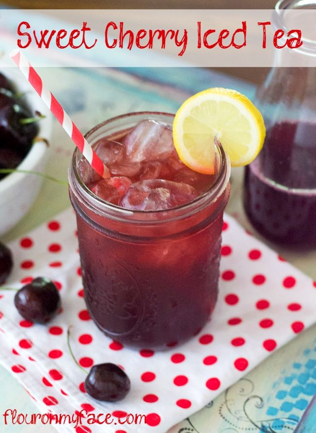 Sweet Cherry Iced Tea hits the spot on a hot summer day. I think it's the perfect summer beverage recipe.