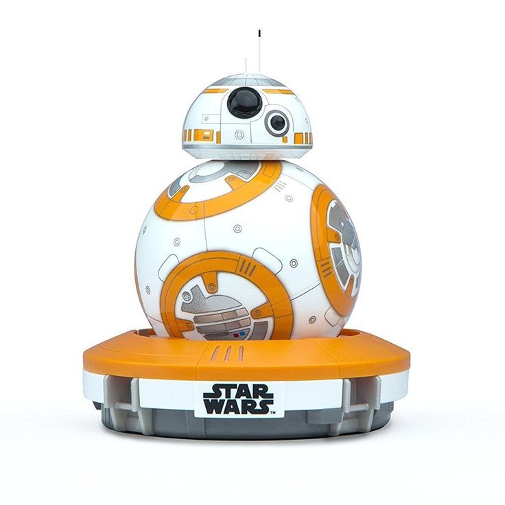 BB-8 app-enabled Droid with a tough and waterproof polycarbonate shell Bluetooth Smart connection allowing Gyroscopic propulsion to a 30m range Induction charging stand providing 60 minute battery life Compatible with the Force Band for control via gestures Free iOS & Android compatible apps allow Adaptive Personality and view holographic recordings