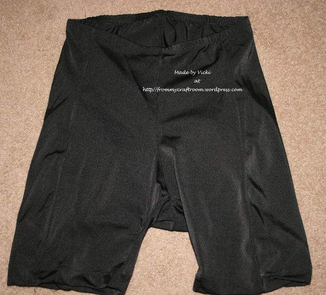 Men's bike shorts. Pattern drafted from old bike shorts.