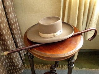 "Visit Sibelius's house ""Ainola"" in Järvenpää. His hat and walking cane. #Sibelius #Finland #Travel"