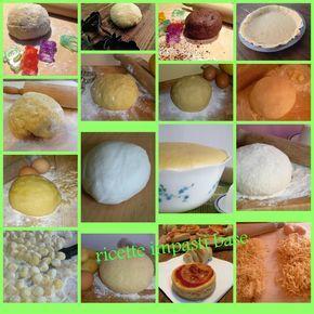 le ricette di impasti base, una raccolta che Creando si impara ha preparato per voi, ricette classiche di impasti base e di impasti lievitati
