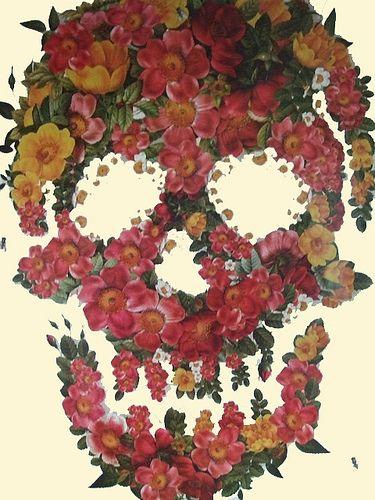 Flower skull: Patterns Tattoo, Sugar Skull Art, Flowers Power, Tattoo Patterns, Tattoo Design, Flowers Skull, Design Tattoo, Sugar Flowers, Flowers Sugar Skull Tattoo