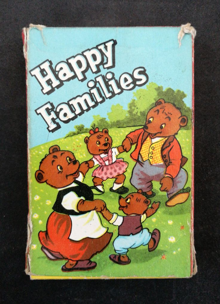 a Wonderful Vintage Happy Families Card Game - Vintage Teddy Bear Happy Families Card Game, Complete In Original Box by OnyxCollectables on Etsy