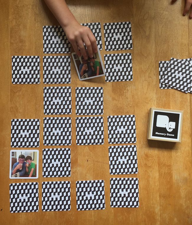 Custom photo memory game: Cool personalized Father's Day gift from the kids
