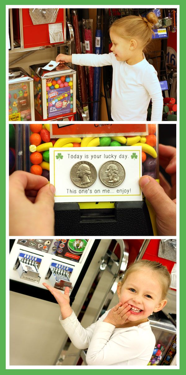 Changing luck one person at a time! This is the perfect St. Patricks Day activitiy to do with my kids. Leave change on gumball machines and other places. #stpatricksday