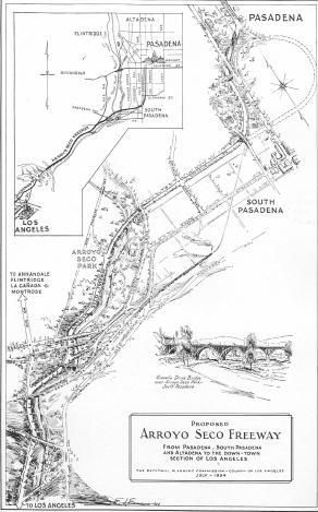 """DEC. 30, 1940:  The first freeway in the US, the Arroyo Seco Parkway, opened in California. image: Arroyo Seco Parkway At 70: The Unusual History Of The """"Pasadena Freeway,"""" California Cycleway & Rare Traffic Plan Images"""