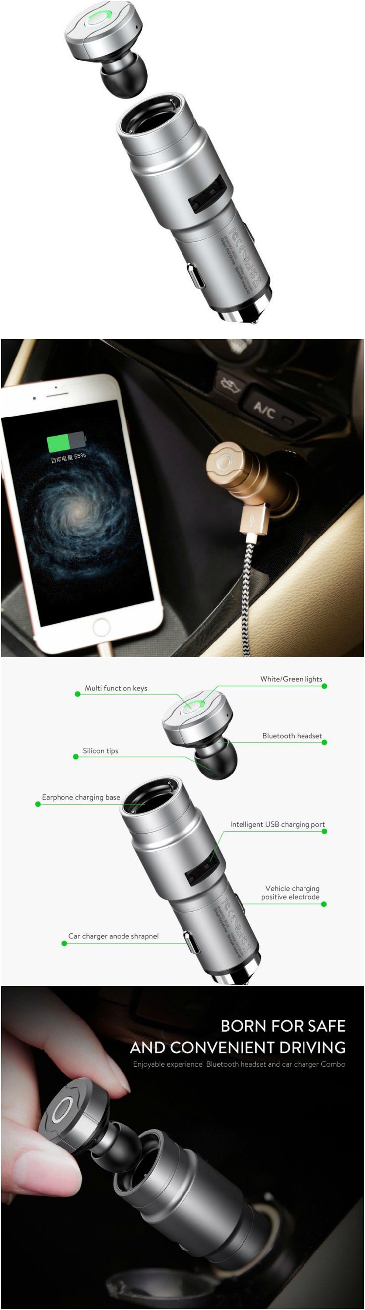 One-piece earbud headset for driving, sports, speakers, running, workout and the gym. Great gift accessory products for home, car audio, androids, Windows 10, laptop, Macbook and iPhone 7 users, men and women and Apple shoppers who are active in yoga, cardio health and fitness #Technology