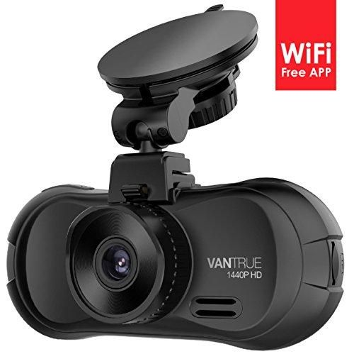 Vantrue X3 WIFI Dash Cam, Super HD 2.5K Car Dashboard Camera 1440P Car Camera with Ambarella A12 Chipset, 170°Wide Angle, Super HDR Night Vision, Loop Recording, Parking Mode, Motion Detection