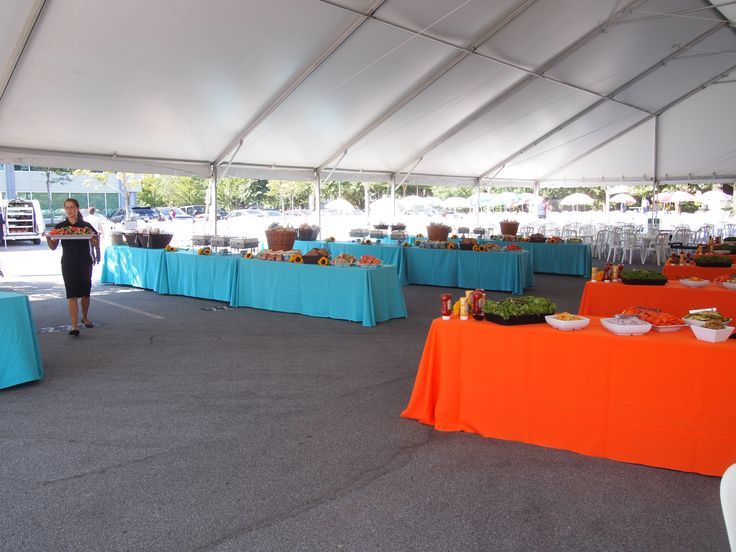 Fully Tented BBQ for 2000 Guests www.blueketchupbbq.com