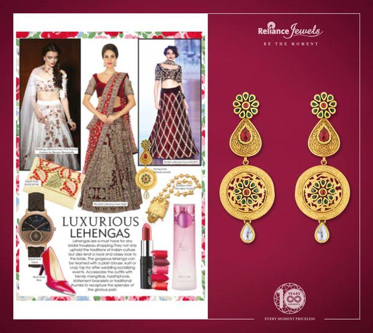 Our gorgeous earrings showcased in Ravishing Wedding Magazine January February Edition 2018.  #asseenin #mediacoverage #RelianceJewels