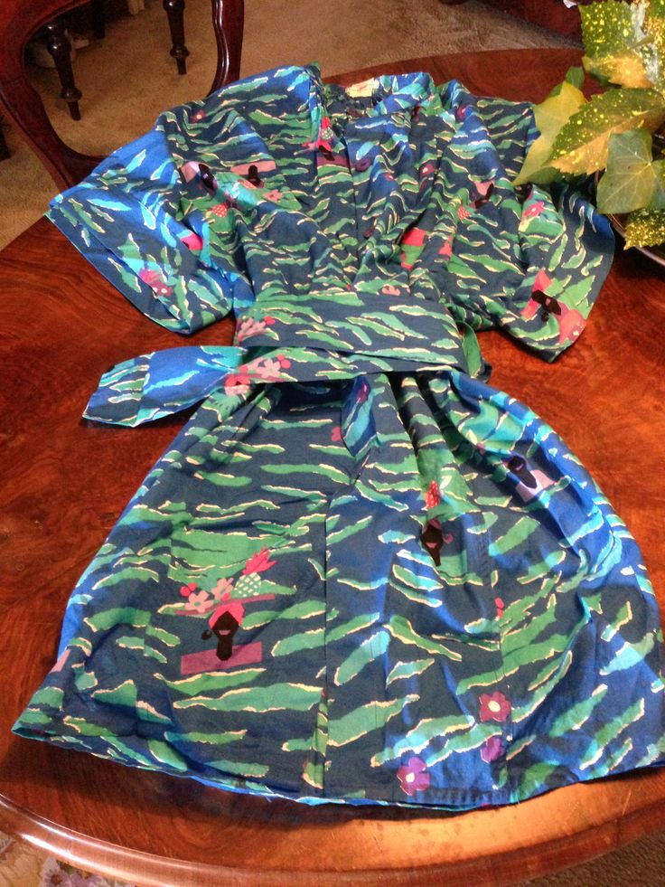 LAURA BIAGIOTTI kimono dress with fishes