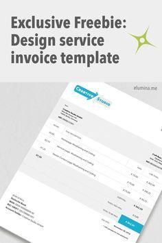 Best Free New Photoshop Invoice Templates Images On Pinterest - Free invoice template pdf download online mattress store
