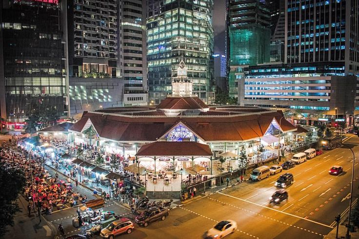 "34 Likes, 2 Comments - Henna Gaijin (@hgaijin) on Instagram: ""Singapore at night #4 - Lau Pa Sat, the palace of food. #night #nightphotography #city #lights…"""