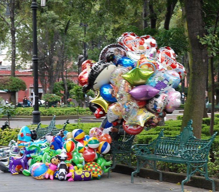 Balloon seller, Coyoacan, Mexico