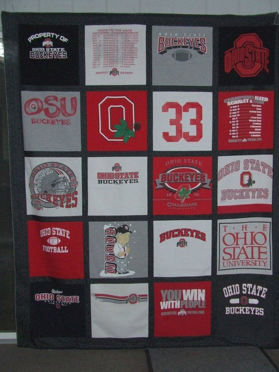 cfc60c7d0f5 Custom made Ohio State tee shirt quilt............example | Products ...