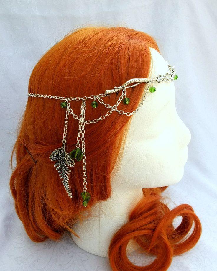 Forest Elf Branch and Fern Silver Circlet, Bridal Head Piece, Bridal Hair, Fairy Circlet, Elfin Headpiece, Renaissance Crown. $45.00, via Etsy.